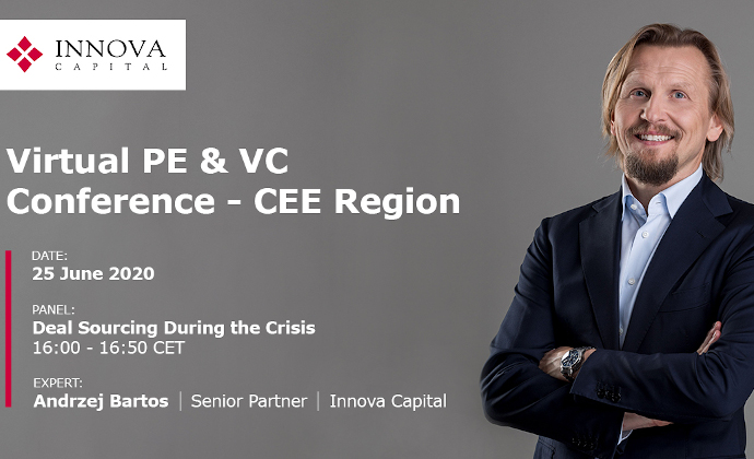 Andrzej Bartos as a speakers during the Virtual PE & VC Conference - CEE Region